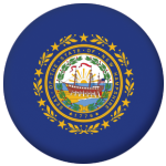 New Hampshire State Flag 58mm Mirror Keyring
